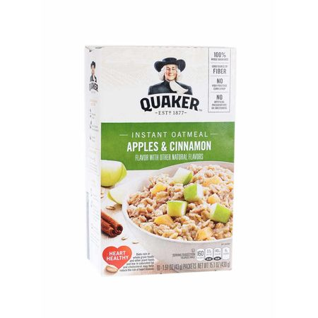 Quaker instant Oatmeal, Apple & Cinnamon