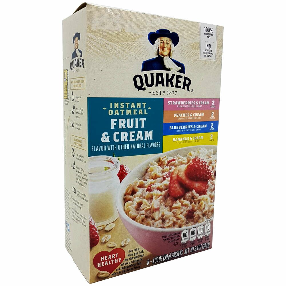 Quaker instant Oatmeal Artifical Fruit&Cream