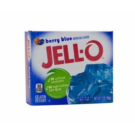 Jell-O Gelatin Berry Blue Dessert, Wackelpudding USA