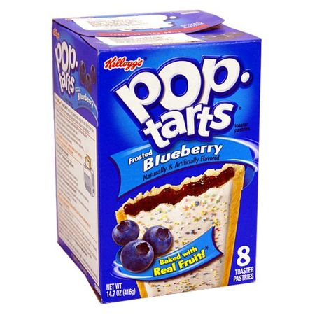 1x8 Kelloggs Pop Tarts FROSTED Blueberry
