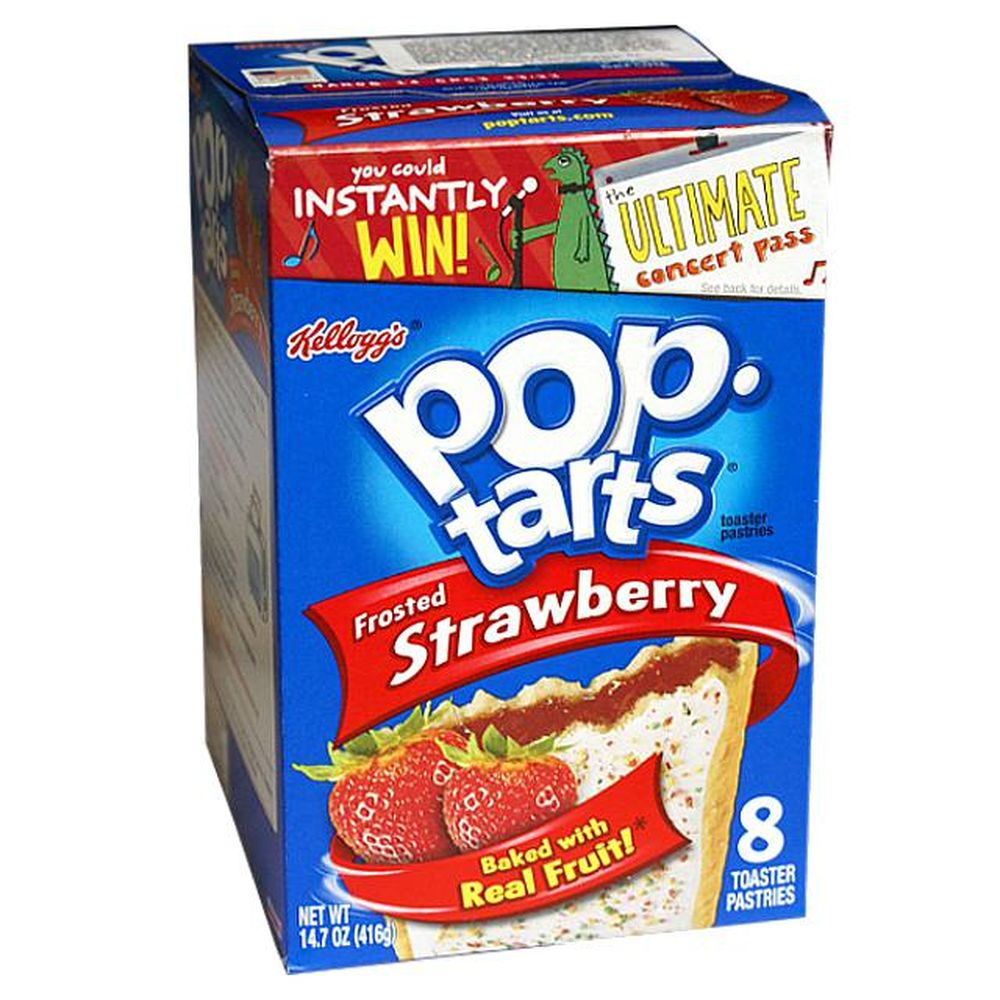 1x8 Kelloggs Pop Tarts Strawberry frosted