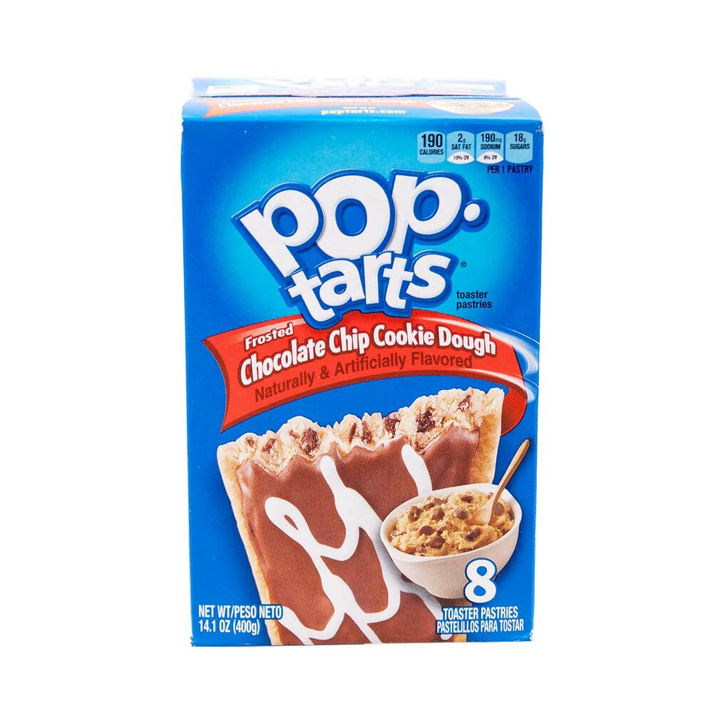 1x8 Kelloggs Pop Tarts Chocolate Chips Cookie Dough