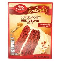 Betty Crocker Red Velvet, Backmischung USA