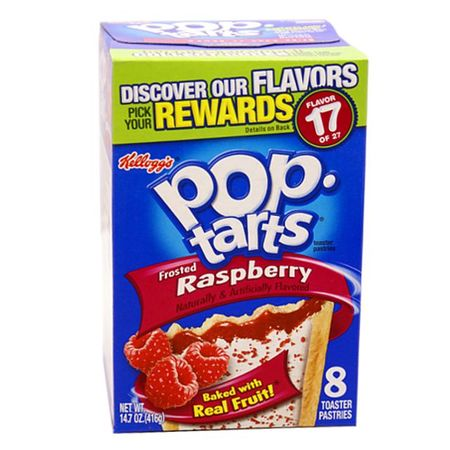 1x8 Kelloggs Pop-Tarts Frosted Raspberry, 416 g