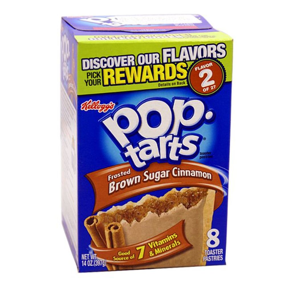 1x8 Kelloggs Pop Tarts Frosted Brown Sugar Cinnamon