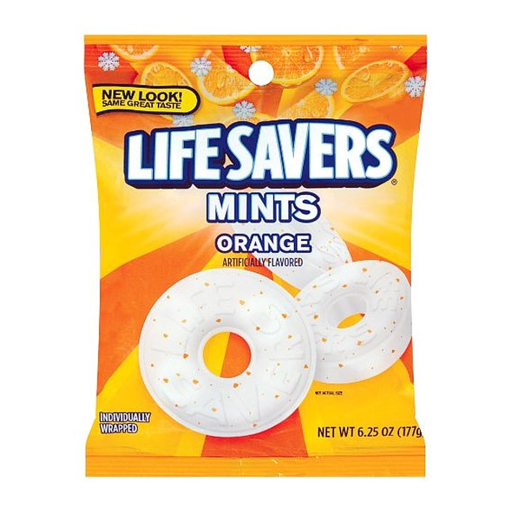 Lifesavers Mints Orange, Artificially Flavored