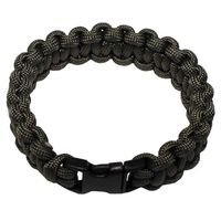 Armband, Paracord, Farbe: oliv mit Clipverschluss 2,3 cm...