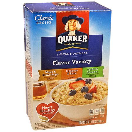 Quaker instant Oatmeal, Flavour Variety
