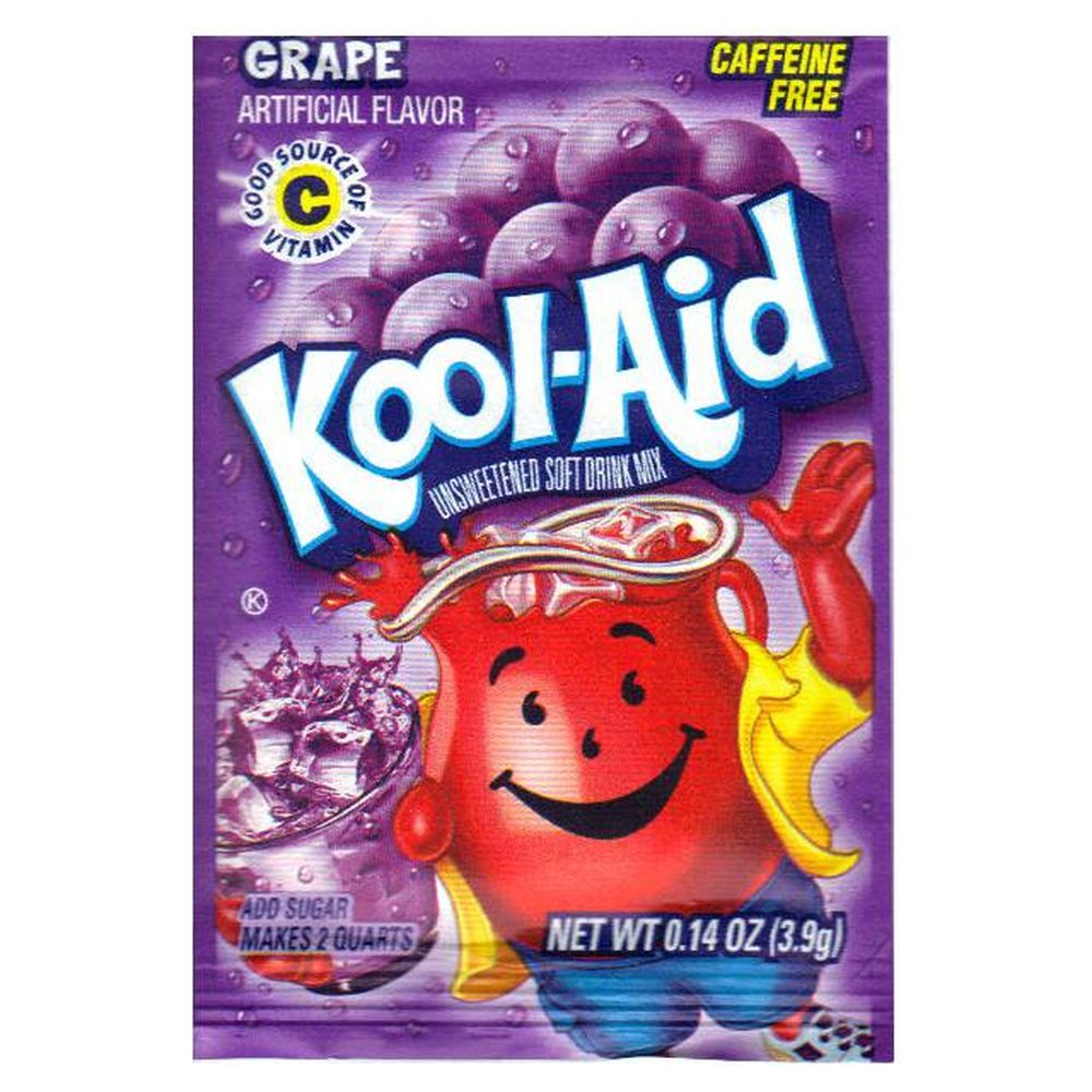 Kool Aid Grape, Brausepulver Tüte