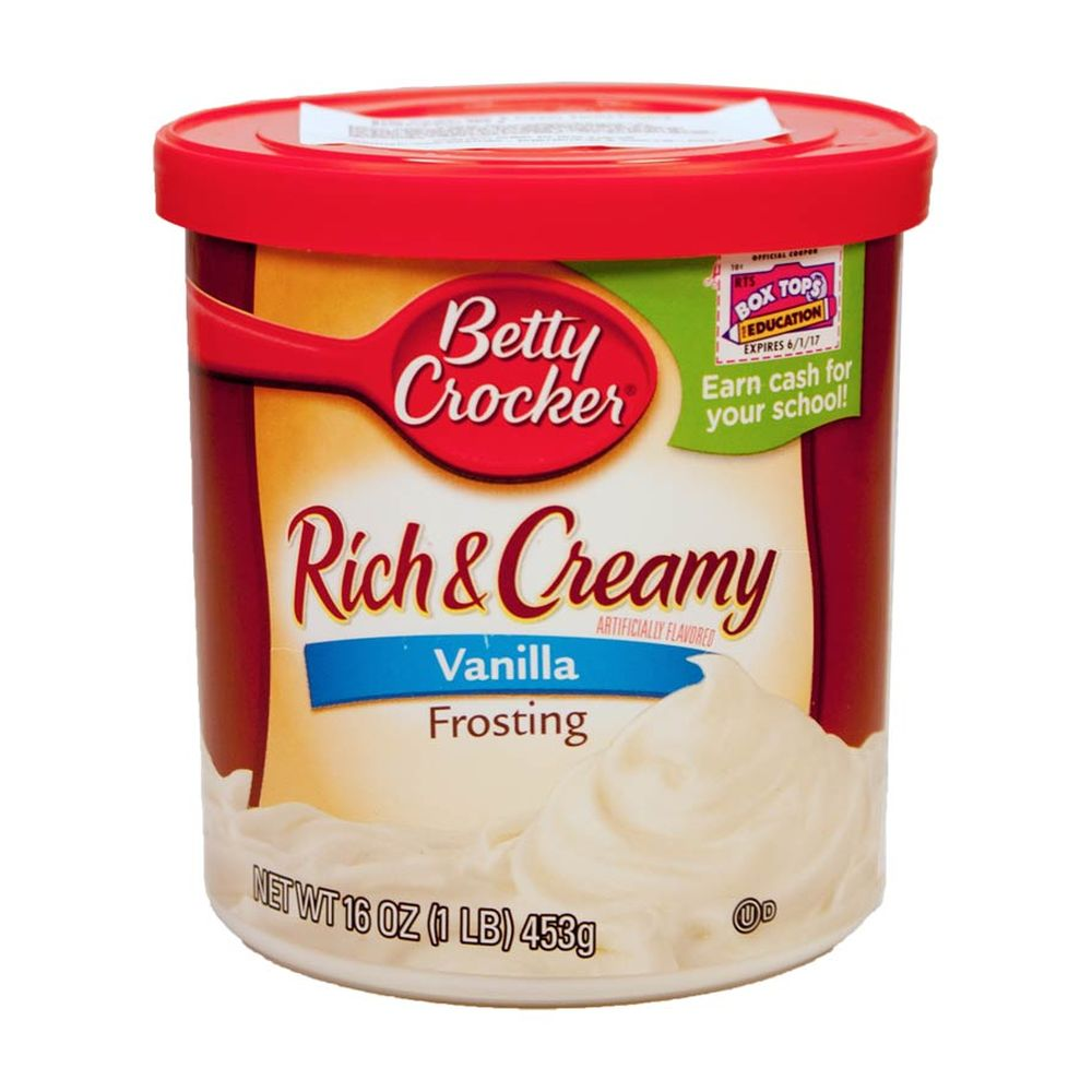 Betty Crocker Rich & Creamy Frosting Vanilla Zuckerguss, Kuchenglasur