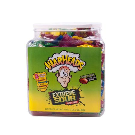 Box Warheads Extreme Sour Hard Candy, 964g