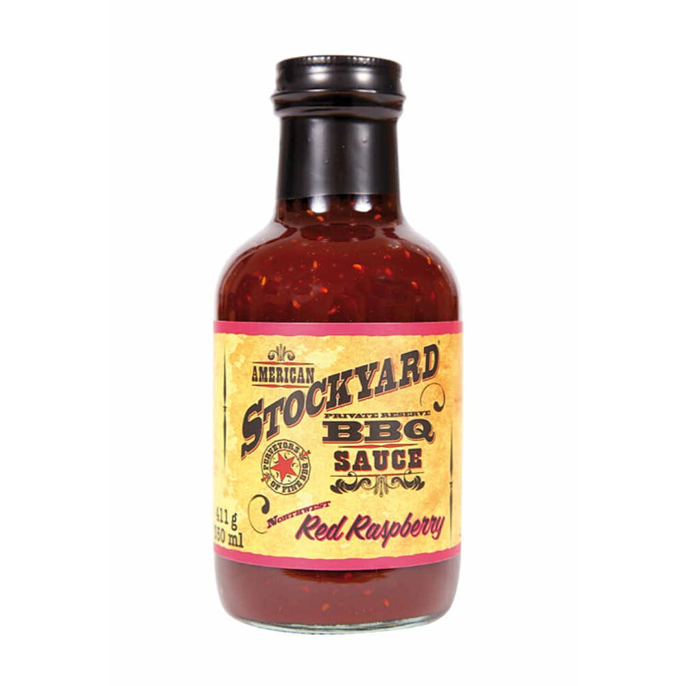 American Stockyard Red Raspberry Grillsauce, BBQ Sauce 350 ml