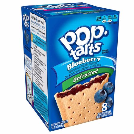 1x8 Kelloggs Pop Tarts Blueberry unfrosted