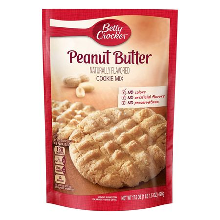 Betty Crocker Peanut Butter Cookie Mix, Backmischung USA