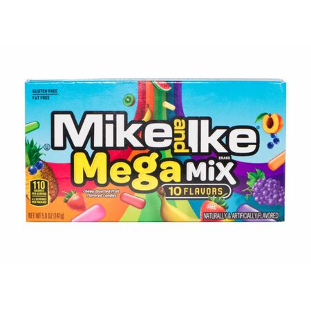 Mike and Ike 10 Flavors Mega Mix Kaudragees, 141g